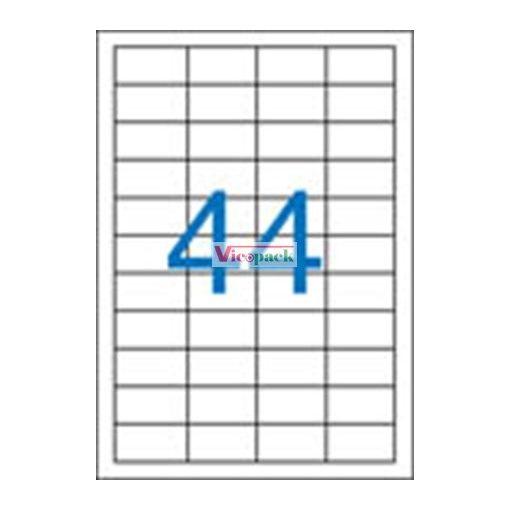 Etikett, univerzális, 48,5x25,4 mm, 4400 etikett/csomag