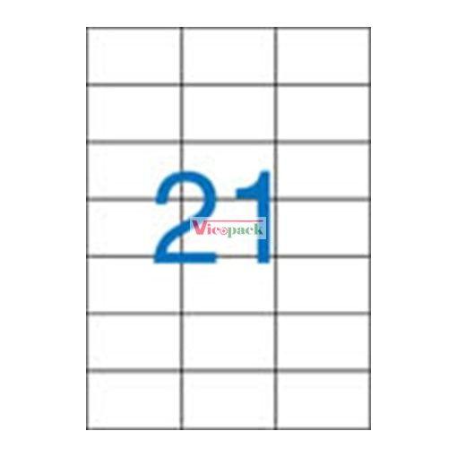 Etikett, univerzális, 70x42,4 mm, 2100 etikett/csomag