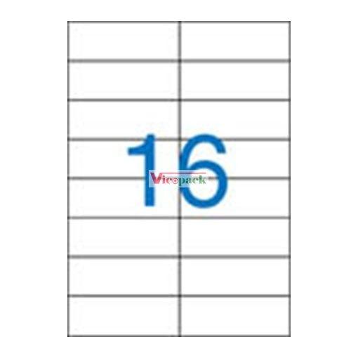 Etikett, univerzális, 105x37 mm, 1600 etikett/csomag