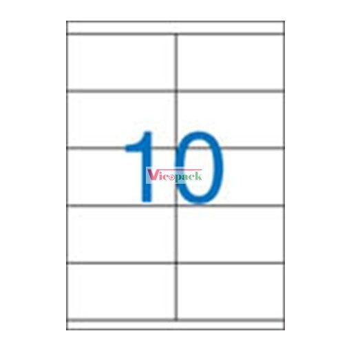 Etikett, univerzális, 105x57 mm, 1000 etikett/csomag
