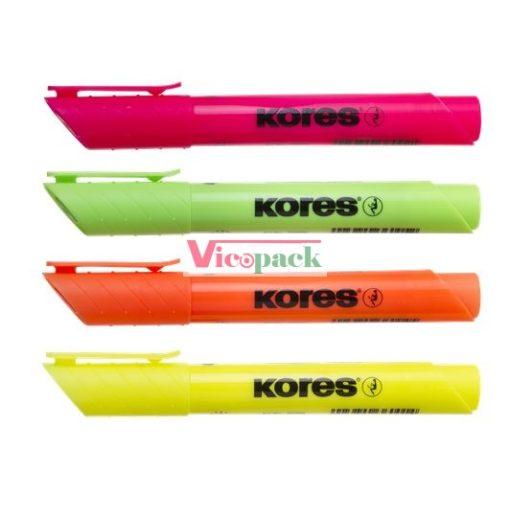 """Szövegkiemelő készlet, 0,5-5 mm, KORES """"High Liner Plus"""", 4 különböző szín"""