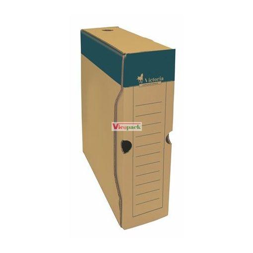 Archiváló doboz, A4, 80 mm, karton, natúr