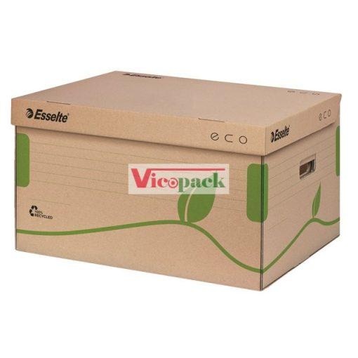 """Archiváló konténer, újrahasznosított karton, felfelé nyíló, """"Eco"""", barna"""