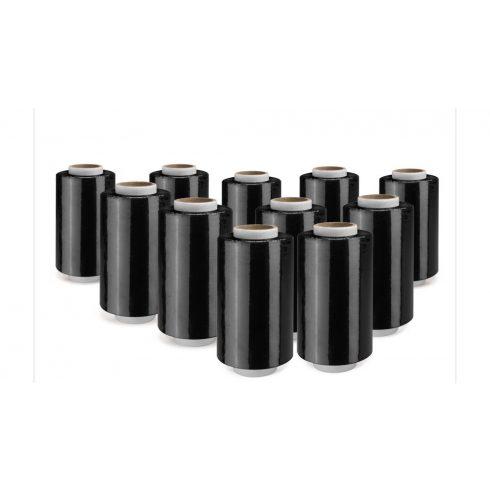 Mini roll fekete stretch fólia 23 my