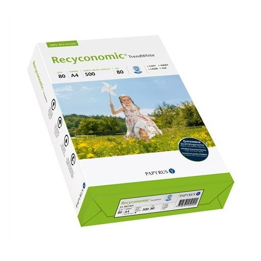 """Másolópapír, újrahasznosított, A3, 80 g, RECYCONOMIC """"Trend White"""""""