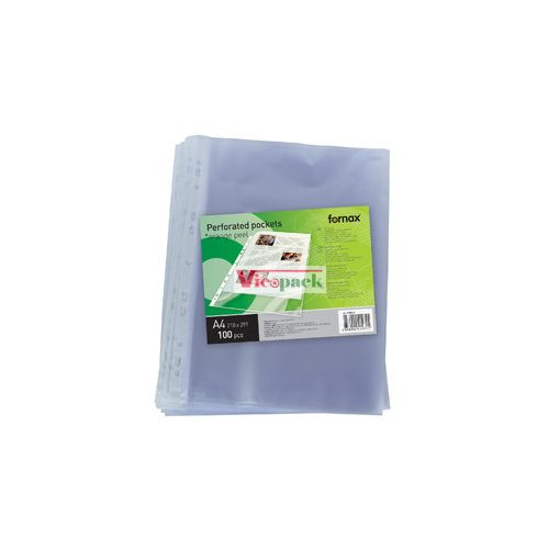 Genotherm, lefűzhető, A4, 40 mikron, narancsos felület/ csom (100 db)