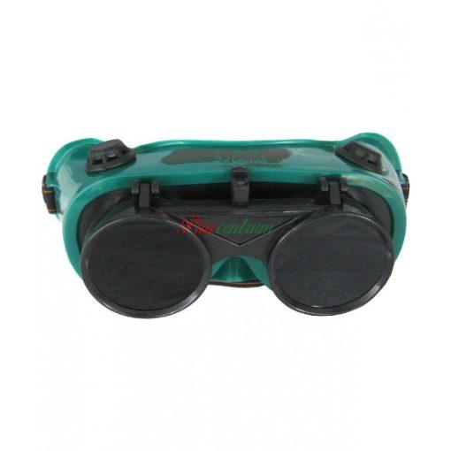 Védőszemüveg zöld felhajtható